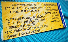 20161228_15 Cate Blanchett's siggy on my ''The present'' ticket!   Barrymore Theatre, New York City