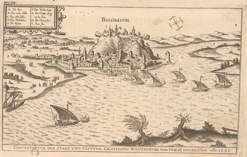 Belgrade during siege under Suleiman the Magnificent