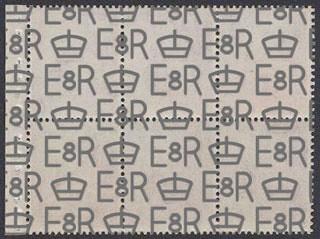 E8R watermark on Great Britain Edward VIII booklet pane