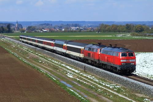 DB 218 423-2 + 218, Sontheim