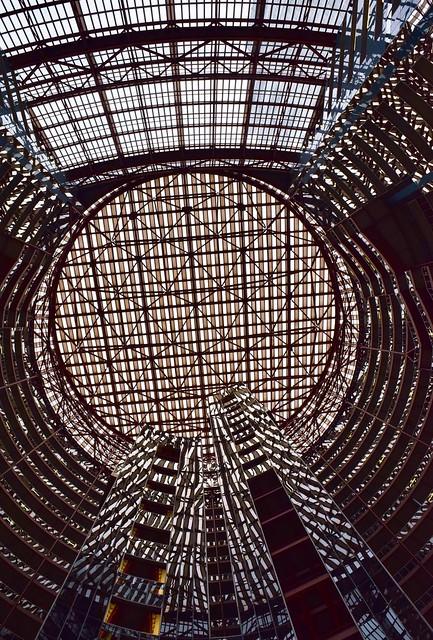 Detail, Thompson Center (1985) by Helmut Jahn, Chicago, 2015