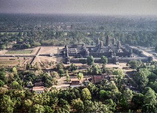 Anchor Wat from the air -- taken by the author on the way to Preah Vihear in 1992.