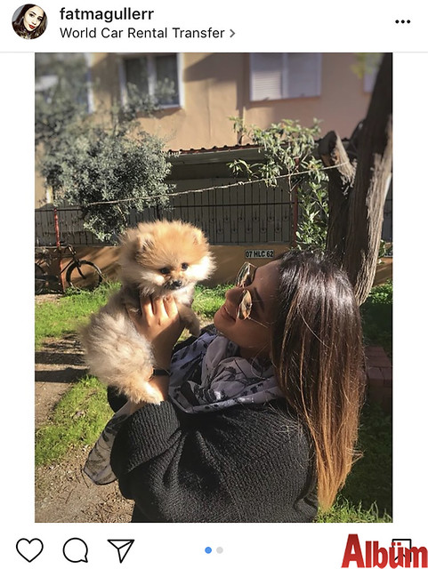 Fatma Güler, minik köpeği ile paylaştığı bu fotoğrafla hayvan sever takipçilerinin beğenisini topladı.