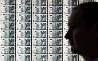 Euro banknote wall