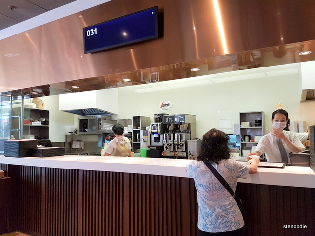 Cafe de Coral pick-up counter