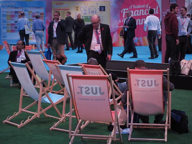 Delegates relaxing on the, Olympus PEN-F, Lumix G Vario 45-200mm F4.0-5.6 Mega OIS