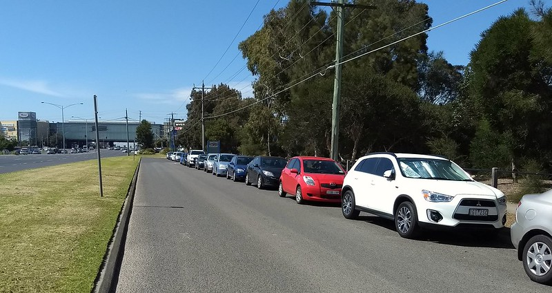 Parking on the Nepean Highway near Southland
