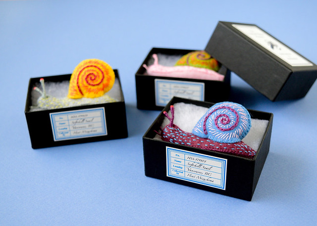 Softshell Snail Brooches
