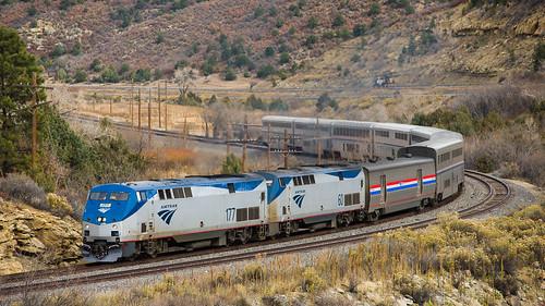 nikonafnikkor80200mmf28d nikond600 train railroad amtrak southwestchief bnsf ratonpass newmexico