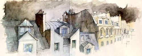 Les toits dans Paris