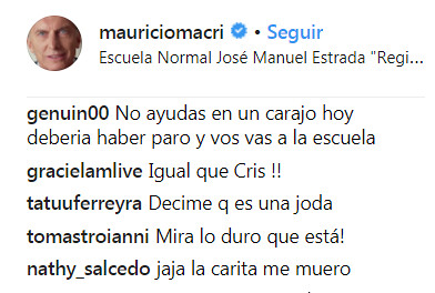 Macri comentarios 6