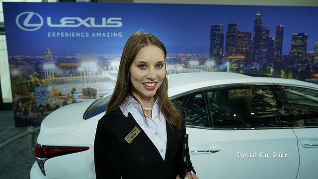 Lexus hostess at Los Angeles Auto Show 2017