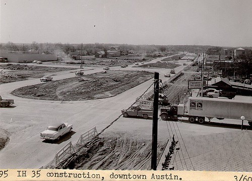 Looking South from north side of 1st. #1960 #austin #tx #tbt #throwbackthursday #throwbackthursdays via texasfreeway.com by RG