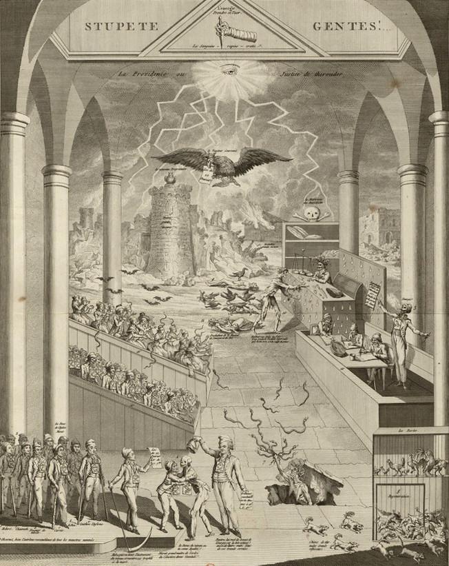 french revolution lightning allegory