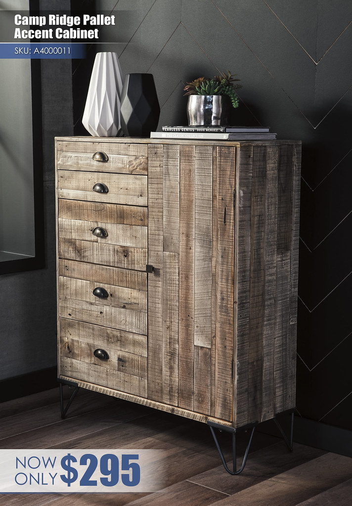 A4000011 - Camp Ridge Pallen Accent Cabinet $295