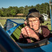 Al Tucker Jr., 96, gives a thumbs up from the front cockpit of the PT-17 Stearman biplane owned by First Sgt. David Brown, U.S. Air Force Reserve, before Tucker took off, flew and landed the aircraft multiple times at the Flying Circus Aerodrome in Bealeton, Va., Jul. 30, 2017. Brown's PT-17 is the same model in which Tucker trained at West Point in 1942 before going on to fly P-38 fighter aircraft over Europe with the U.S. Army Air Corps 434th Fighter Squadron during WWII with his friend, then Lt., Robin Olds. The two have been flying together for nearly 10 years. (U.S. Air Force photo by J.M. Eddins Jr.)