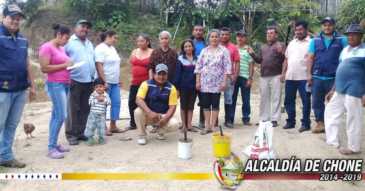 Técnicos Municipales capacitan a campesinos en Pueblo Seco de Chibunga