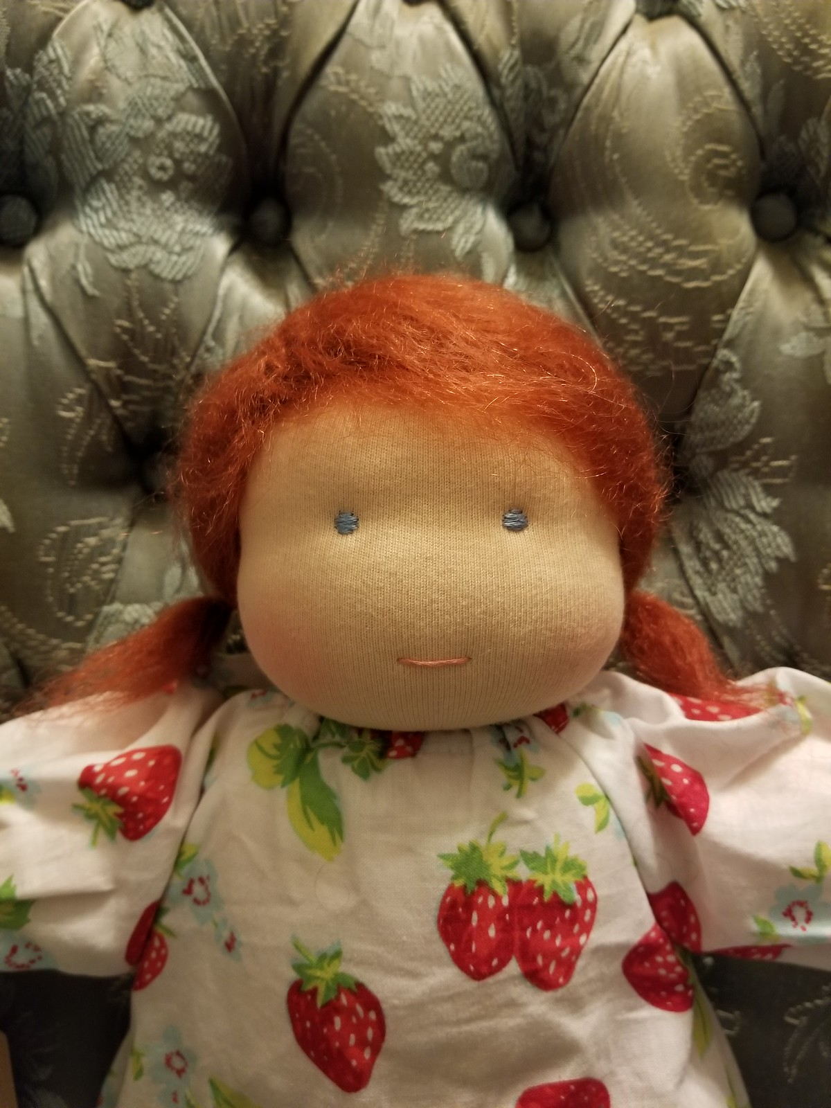 "Scarlett, a traditional 14"" Waldorf dress-up doll"