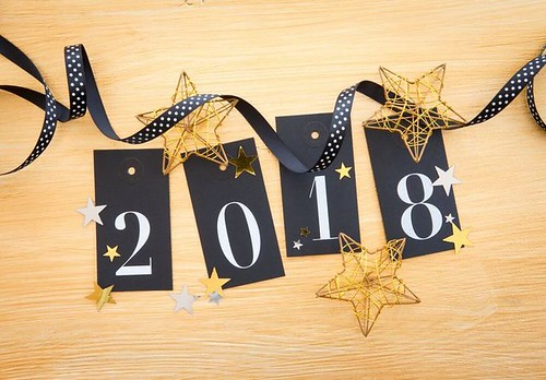 Happy New Year 2018 Wooden Wishing Wallpaper...