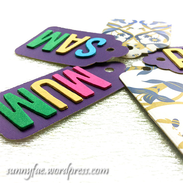 die - cut gift tags