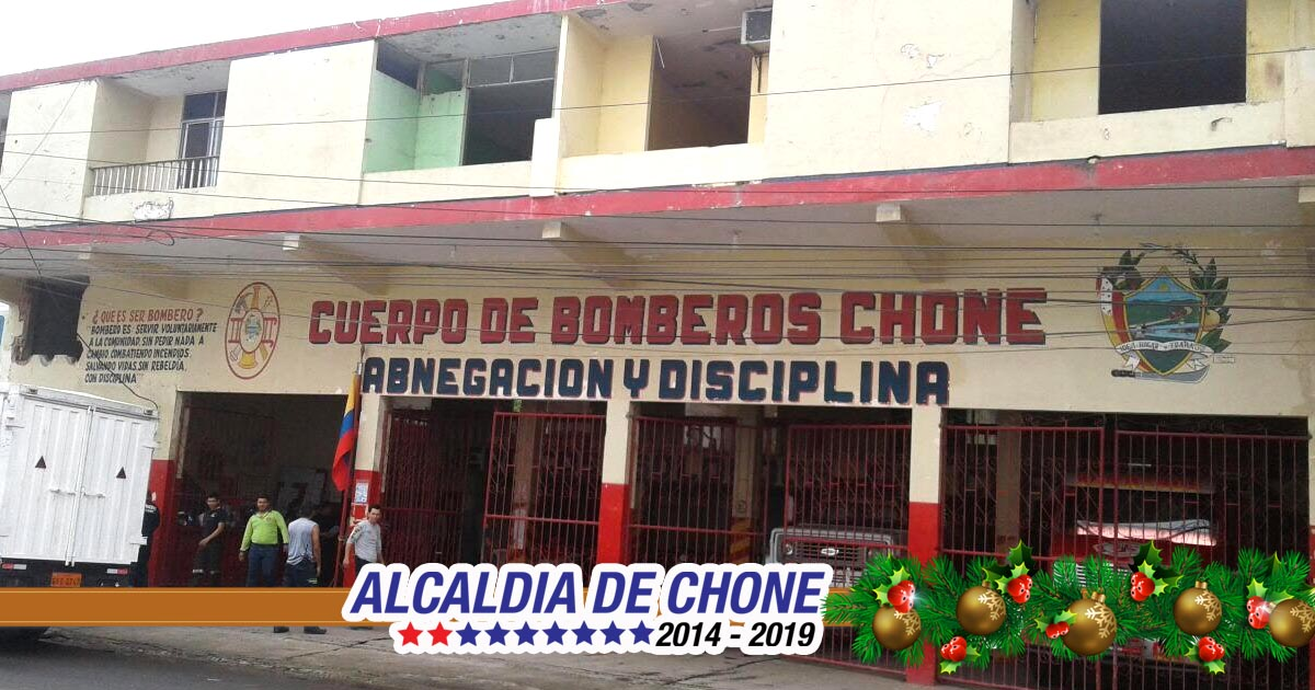 En Chone edificio Cuerpo de Bomberos será demolido