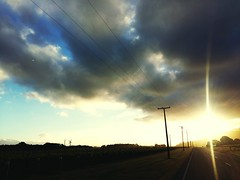 Heading to the Sun Sunset Streetview Cloud Sky Evening Sky Landscape Horizone
