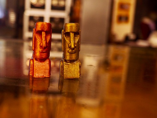 3D-printed tikis with metallic paint