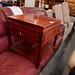 Small dark wood square coffee table E30