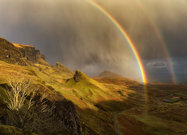 Double Rainbow, Quiraing, Isle of Skye, Scotland