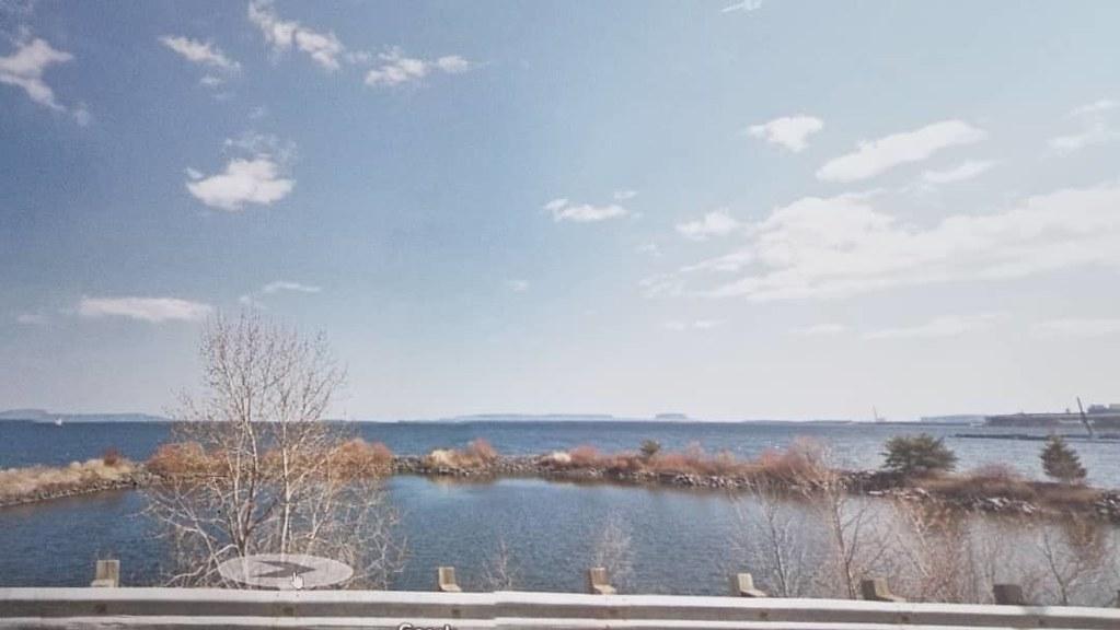 Hello Lake Superior. #ridingthroughwalls #xcanadabike #googlestreetview #ontario #thunderbay