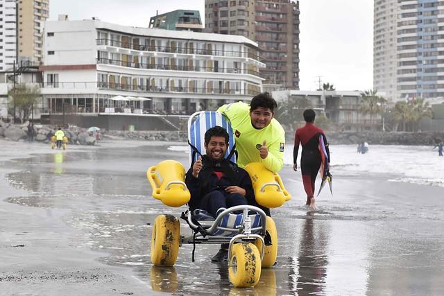 Proyecto regional complementó la playa inclusiva de Iquique