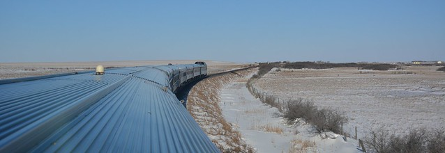 Eastbound Canadian - just east of Asquith Saskatchewan