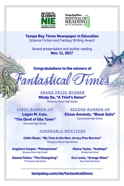 Fantastical Times student writing contest 2016-2017