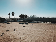 l.a. skyline from the brewery.