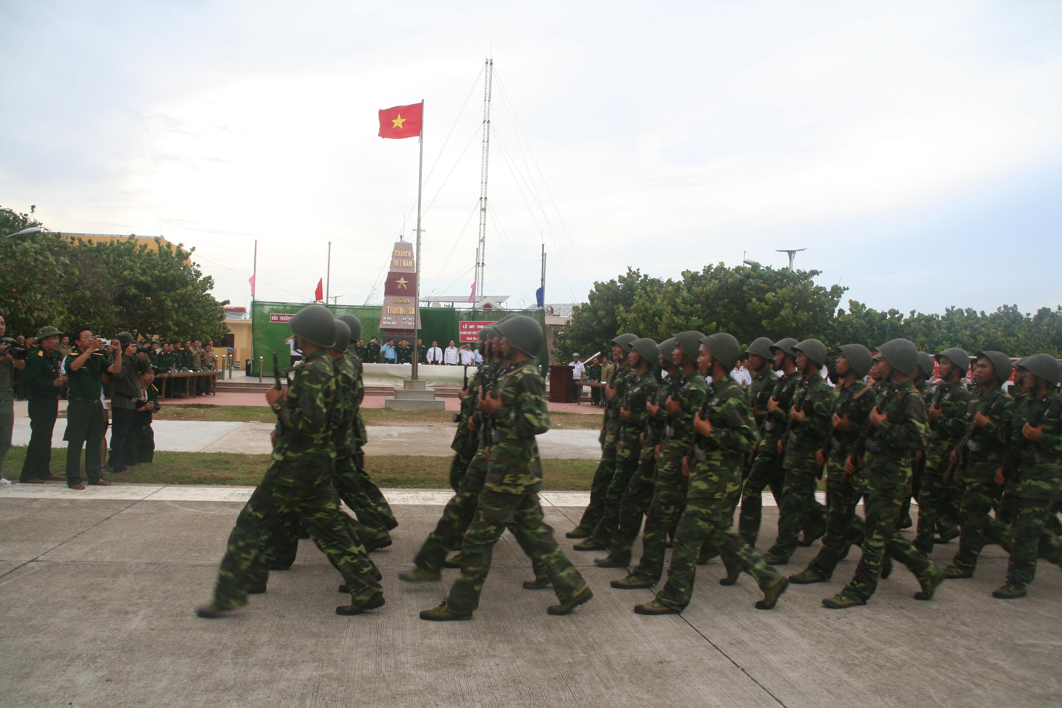 Vietnamese soldiers. Photo taken on March 31, 2009.