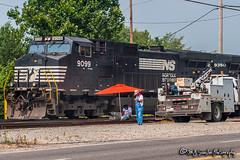 NS 9099 | GE C40-9W | NS Forrest Yard