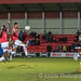 Mani Dieseruvwe and Michael Nottingham are inches  away from a cross-2329