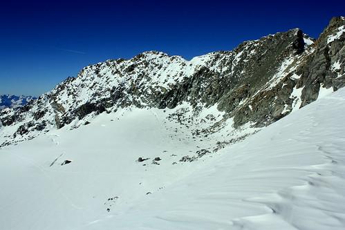 Depuis le Col de Gébroulaz, vue sur l'Aiguille de Péclet