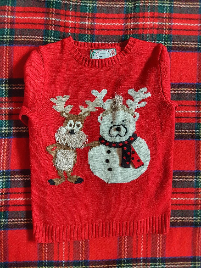 Fuzzy Reindeer Polar Bear Sweater