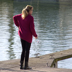Woman at Preston Marina