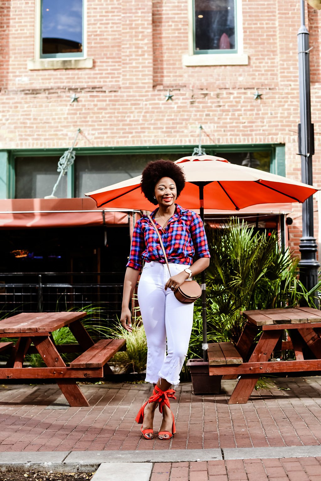 how to style a plaid shirt, candace hampton