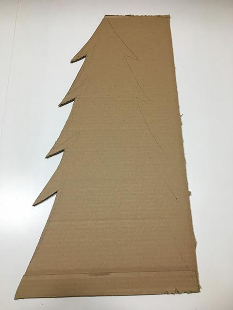 06 Calendario adviento árbol cartón