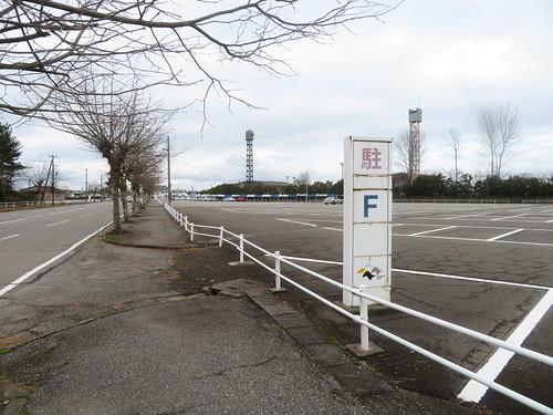 金沢競馬場のF駐車場