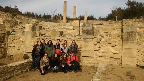 Grupo en el yacimiento de Santa Criz de Eslava