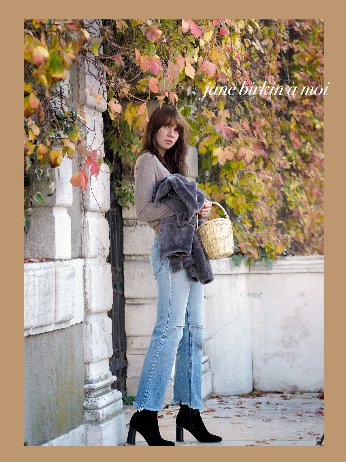 mbym fake fur jacket steppjacke winter boots sacha jane birkin style basket seventies 70s style parisienne chic autumn winter fashionblogger cats & dogs ricarda schernus 5