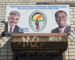 Dominican Revolutionary Party Billboard, Inwood, New York City