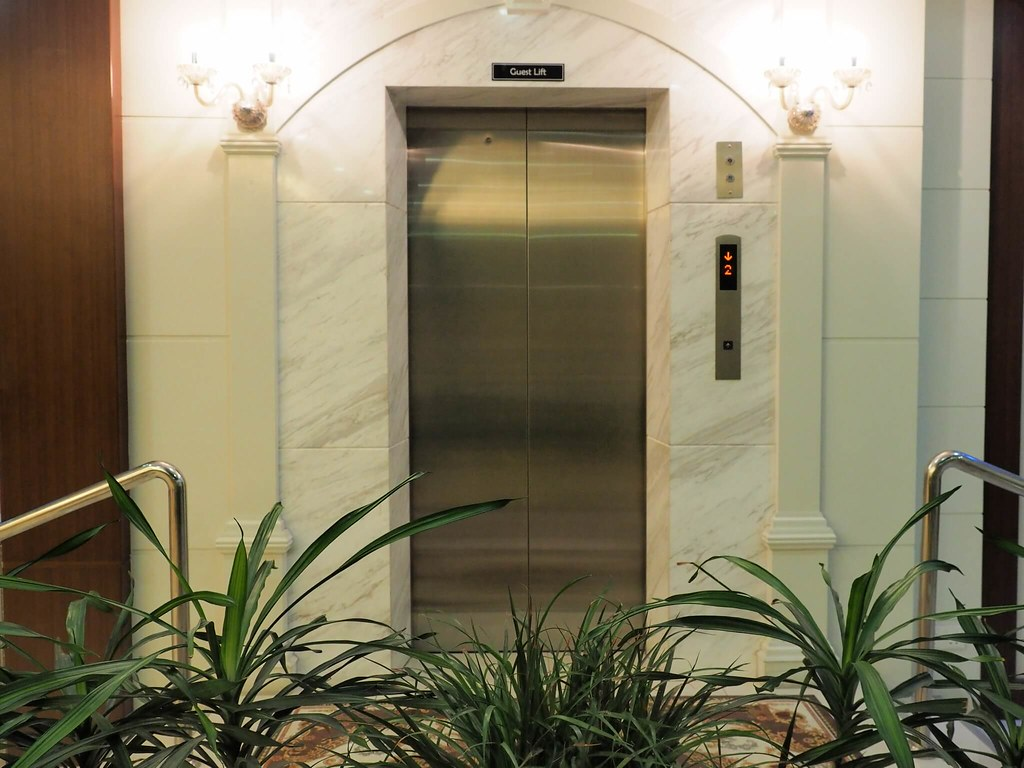 The lift at the hotel