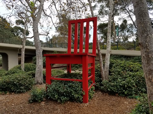 Giant Red Chair - UCSD Campus
