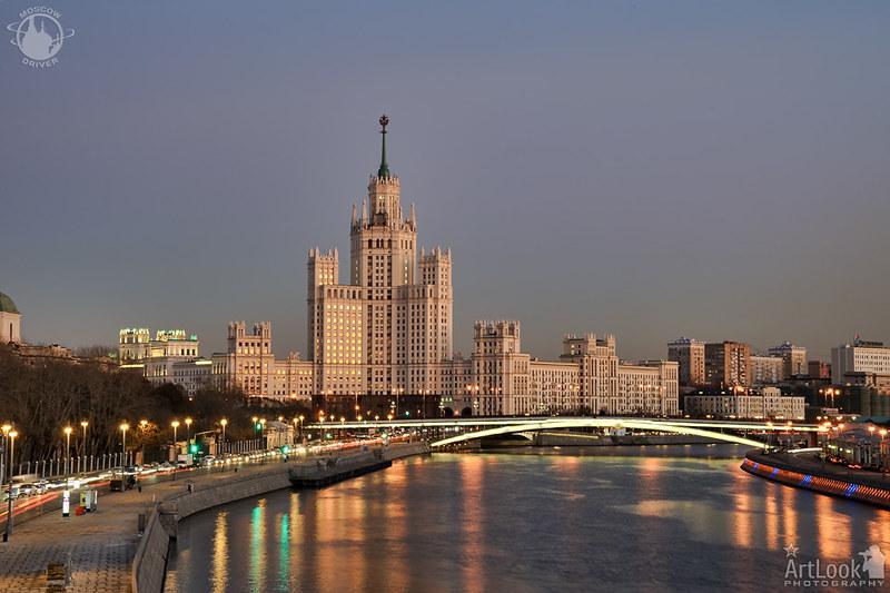 Kotelnicheskaya Embankment Building in Golden Hour