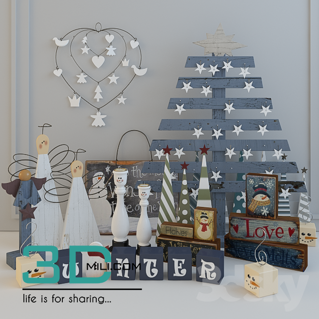 Christmas Decor 5 3dmodel Free Download